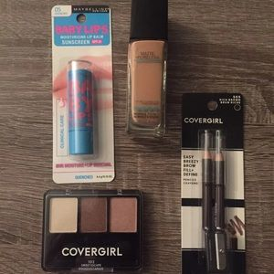 New foundation lip balm shadow & brow pencils